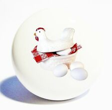 CHICKEN EGGS KITCHEN  HOME DECOR CERAMIC KNOB DRAWER CABINET PULL