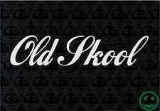 OLD SKOOL STICKER DECAL 2X 178MM WIDE CAR WALL BUMPER RETRO WINDOW STICKERS o)