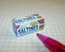 Miniature Tiny Saltine Saltines Crackers Box: DOLLHOUSE Miniatures 1/12 Scale