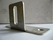 Stainless Steel 90 Degree T Bracket set of four (4) 100mm x 40mm 2.5mm thick