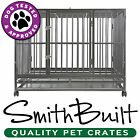 "42"" Dog Crate Kennel - Heavy Duty Silver Pet Cage Playpen w/ Metal Tray Pan"