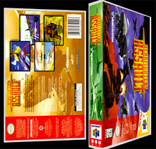 Aerofighters Assault - N64 Reproduction Art Case/Box No Game.