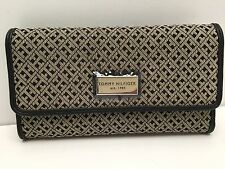 Tommy Hilfiger Women's Wallet* Black Multi Clutch w/ Checkbook Case New
