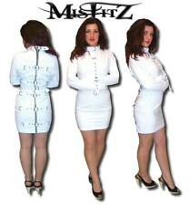 Misftz white faux leather deluxe strait jacket  restraint dress 8-32/custom