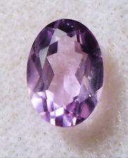 7 x 5 mm OVAL SHAPED FACETED MEDIUM AMETHYST GEMSTONE BRAZIL