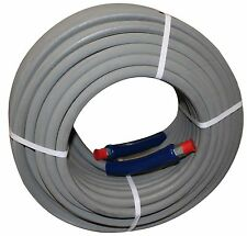 """200 ft 3/8"""" Gray Non-Marking 4000 psi Pressure Washer Hose 200' - FREE SHIPPING"""