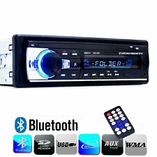 12V FM In Dash Car Stereo Radio 1 DIN SD/USB AUX Bluetooth Handsfree Head Unit