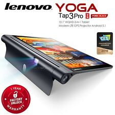 """New LENOVO Yoga Tab 3 Pro Black 10.1"""" IPS QHD Android Built in Projector Tablet"""