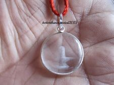 BEAUTIFUL HANDMADE CRYSTAL QUARTZ SPHATIK SHIVLING SHIVA LINGAM PENDANT ~20 MM