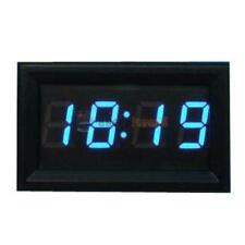 "Mini 0.4"" Digital Clock Time Blue LED For Car Motorcycle Motorbike Scooter Bike"