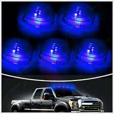 5 Pcs Smoked Lens blue LED Cab Roof Top Marker Running Lights T10 Kits