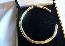 18K Solid Yellow Gold Round Cuff Bracelet 36+ Grams 6.5 Inch w/ 1 Inch Opening