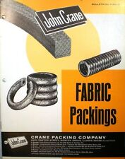 JOHN CRANE Co Canadian ASBESTOS Fabric Packings for Pumps Compressors