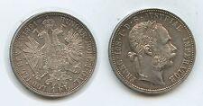 G12605 - Österreich 1 Florin 1891 Wien KM#2222 RAR Silber Franz Joseph.1848-1916
