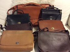 Lot Vintage Coach Leather Bags