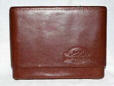 """Cigars International Distressed Brown Leather Cigar Humidor Case 6"""" H & 7.5 Wide"""