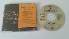 "Paul McCartney ""Birthday"" US 1TRK PROMO CD 2005 Beatles"