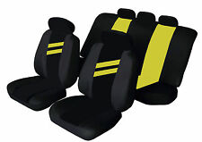 SUZUKI SWIFT Universal Car Seat Covers YELLOW STRIPE