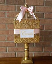 Pedestal Cage Wedding Card Holder, Bird Cage Money Holder, Bridal Shower