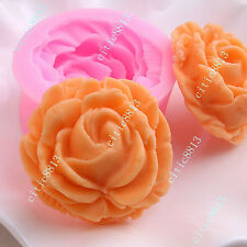 3D Rose Flower Silicone Chocolate Fondant Cake Cupcake Decorate Candle Soap Mold