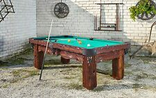 """Badlands"" 8' Hand-Crafted Rustic Log Pool Table Billiard Table Log Home/Cabin"
