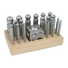 Dapping Set - 24 Punches and Block for Jewelry Making - 25-618