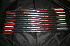 "1 Dozen 20"" Carbon Crossbow Bolts Horton Barnett Ten Point Half Moon Nocks"