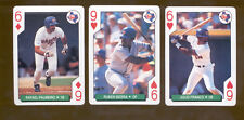 1991 Bicycle Texas Rangers Set RAFAEL PALMEIRO JULIO FRANCO RUBEN SIERRA
