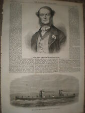 Italy Admiral Persano & floating steam fire engine Hooghly for Calcutta 1867