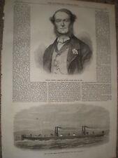 Italie-amiral persano & flottant steam fire engine Hooghly pour calcutta 1867