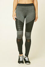64% OFF!AUTH FOREVER 21 MARLED MOTO WORKOUT ACTIVE LEGGINGS LARGE BNEW US$22.90
