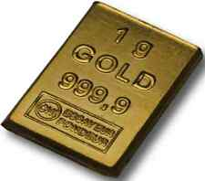 Lingotin d'Or 24 carats 999,9/1000  - 1 gramme Gold Bar