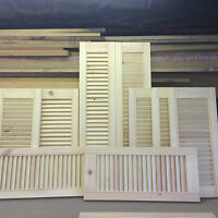 bespoke  open louvre doors handmade to order from 8p per square inch
