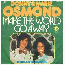 "Donny & Marie Osmond-Make the world go away/Living on my../7"" Single von1975"