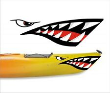 SHARK TEETH MOUTH DECAL STICKERS KAYAK CANOE JET SKI HOBIE DAGGER OCEAN TOWN SM