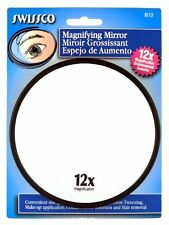Swissco 5-Inch 12X Magnification High Quality Durable Suction Cup Makeup Mirror