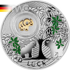 Niue 2014 1$ Elephant Symbols of Luck 1/2oz Proof Silver Coin