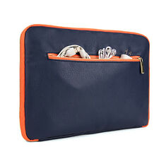 """Blue PU Leather Laptop Sleeve Pouch Bag for ASUS FX50JK4200 / A555LD4210 15.6"""""""
