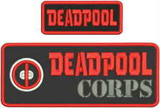 DEADPOOL CORPS EMBROIDERY PATCH 4X10 AND 2X5hook on back