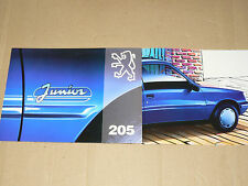 Prospectus PEUGEOT 205  Junior 1993  brochure prospekt  car catalogue