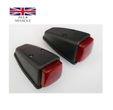 2 X RED SIDE MARKER ROOF LIGHTS INDICATORS 12/24V LORRY TRAILER TRUCK E-MARKED