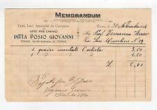 fattura antica - DOSIO GIOVANNI MEMORANDUM 1904