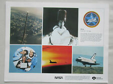 DOCUMENT NASA ROCKWELL RECTO COLUMBIA STS-5 SPACE SHUTTLE ALLEN LENOIR OVERMEYER