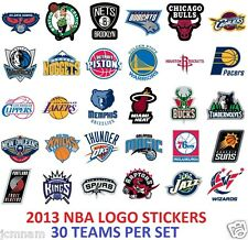 2013 NBA LOGO STICKER STICKERS 30 TEAMS ~ OFFICIAL TEAM LOGO