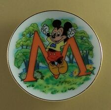 M is for MICKEY MOUSE  DISNEY'S ALPHABET MINIATURE PLATE Walt Disney Mini Movie