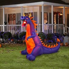 Halloween Inflatable Projection Fire and Ice Dragon W/ Flaming Mouth