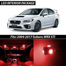 2004-2017 Subaru Impreza WRX STI Red Interior LED Lights Package Kit