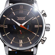 JARAGAR New Men's Automatic Mechanical Watch Top 24hours Week Month Dial Design