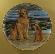 Golden Retrievers BY THE SEA Plate Dog Patricia Bourque Danbury Mint Puppy