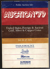 Huge Auction '79 – July 26/27, 1979, by Stack's, Paramount, Rarcoa and Superior